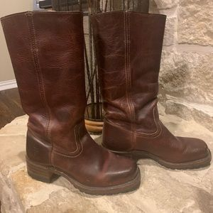 Frye Campus Dark Brown Boots